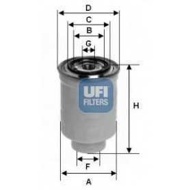 Filtre à carburant UFI code 24.119.00