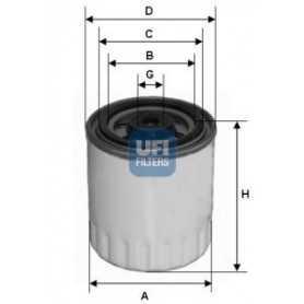 Filtre à carburant UFI code 24.321.00