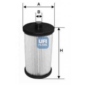 Filtre à carburant UFI code 26.012.00