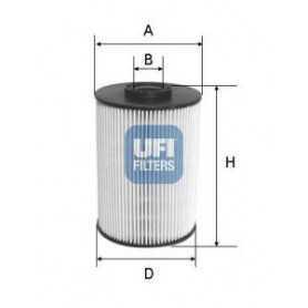 Código de filtro de combustible UFI 26.037.00