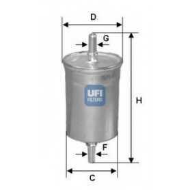 Filtro carburante UFI codice 31.515.00