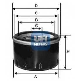 Filtro olio UFI codice 23.129.02