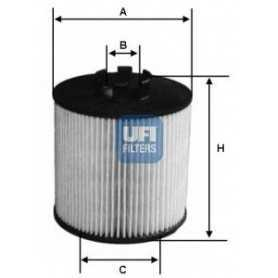 Filtro de aceite UFI código 25.012.00