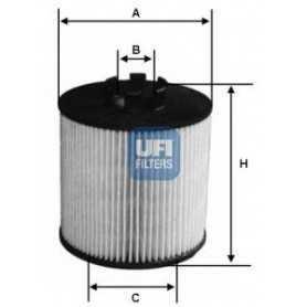 Filtro olio UFI codice 25.012.00