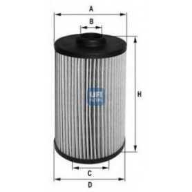 Filtre à huile UFI code 25.038.00