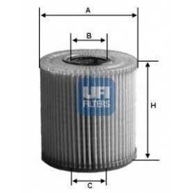 Filtro de aceite UFI código 25.077.00