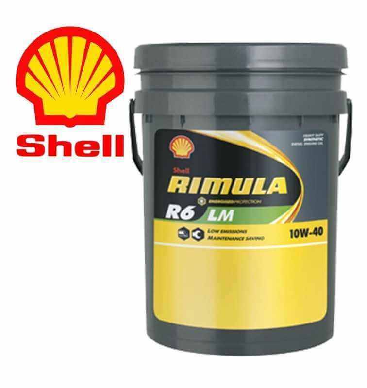 Shell Rimula R6 LM 10W40 E7 228.51 Secchio da 20 litri
