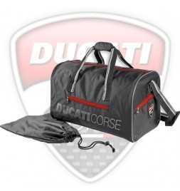Borsone da Palestra Ufficiale Ducati Corse con Sacchetto per le Scarpe - logo Ducati Corse ricamato in carbonio