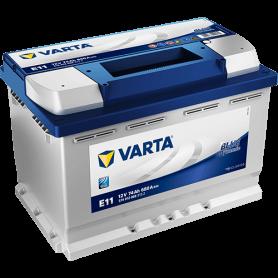 Batteria avviamento VARTA Blue Dynamic E11 74AH 680A codice 5740120683132