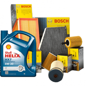 Tagliando MONDEO V 2.0 EcoBoost KW 146 dal 05/2015 con 3 Filtri BOSCH 450905939 451103363 F026400553 5 LT 5W30 Helix HX7 AF
