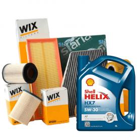 Tagliando FIESTA VI 1.4 LPG KW 71 dal 01/2009 con 3 Filtri WIX FILTERS LifeTimeFilter WL7459 WA9606 5 LT 5W30 Helix HX7 AF