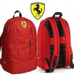 """Zaino """" Ferrari """" - Ufficiale - Rosso - Con Stemma  Ricamato"""