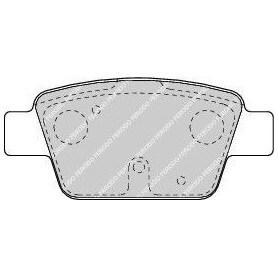 Kit plaquettes de frein FERODO code FDB1469