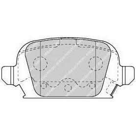 Kit pastiglie freno FERODO codice FDB1472