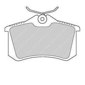 Kit pastiglie freno FERODO codice FDB1491