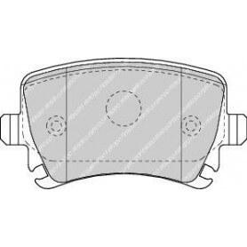 Brake pads kit FERODO code FDB1636