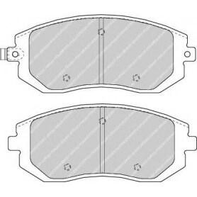Brake pads kit FERODO code FDB1639
