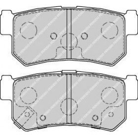 Kit plaquettes de frein FERODO code FDB1937