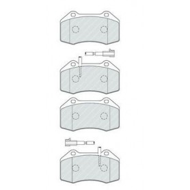 Kit plaquettes de frein FERODO code FDB4320