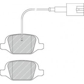 Kit plaquettes de frein FERODO code FDB4321
