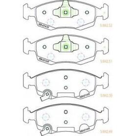 Kit plaquettes de frein FERODO code FDB4400
