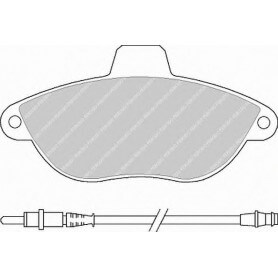 Kit plaquettes de frein FERODO code FVR1002