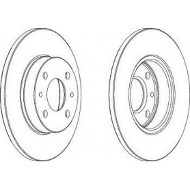Brake Disc FERODO code DDF140