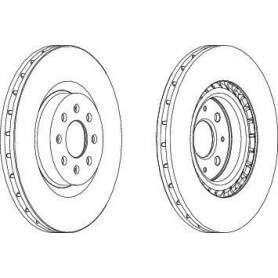 Brake Disc FERODO code DDF1773