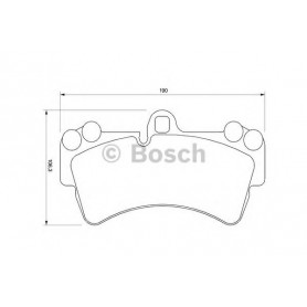 BOSCH brake pads kit code 0986424739