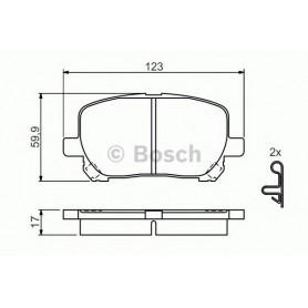 BOSCH brake pads kit code 0986424761