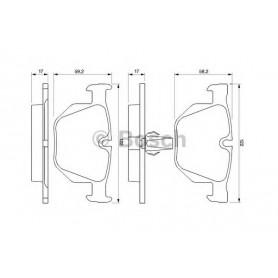 Kit plaquettes de frein BOSCH code 0986424766