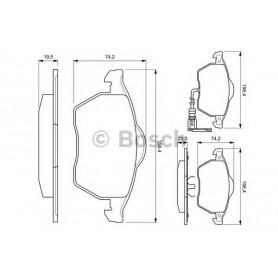 BOSCH brake pads kit code 0986494018