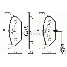 BOSCH brake pads kit code 0986494019