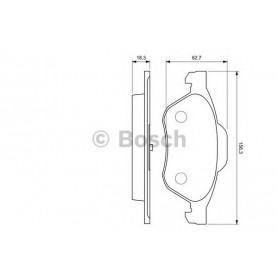BOSCH brake pads kit code 0986494034