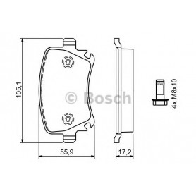 BOSCH brake pads kit code 0986494062