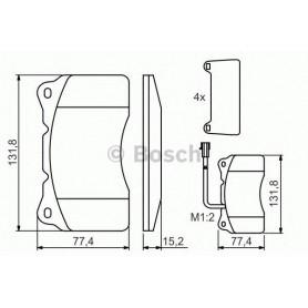 Kit plaquettes de frein BOSCH code 0986494069