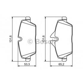 Kit plaquettes de frein BOSCH code 0986494120