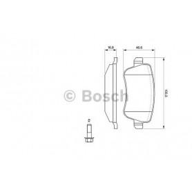 BOSCH brake pads kit code 0986494126