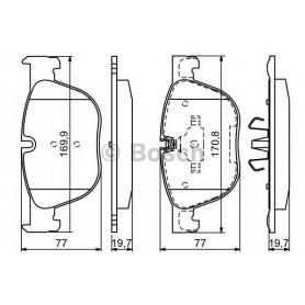 Kit plaquettes de frein BOSCH code 0986494191