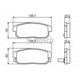 BOSCH brake pads kit code 0986494223