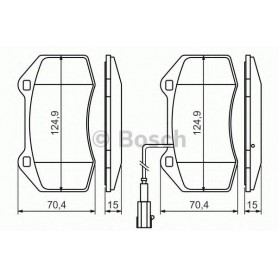 BOSCH brake pads kit code 0986494228