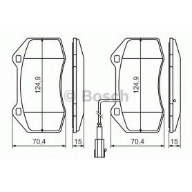 Kit plaquettes de frein BOSCH code 0986494228