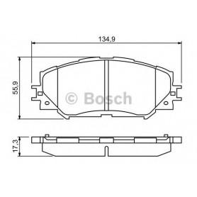 BOSCH brake pads kit code 0986494240