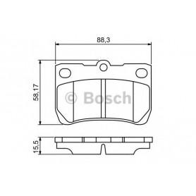 BOSCH brake pads kit code 0986494253