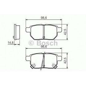 BOSCH brake pads kit code 0986494328