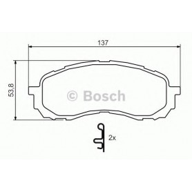 BOSCH Bremsbeläge Kit Code 0986494373