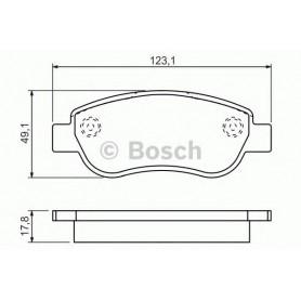 BOSCH brake pads kit code 0986494454