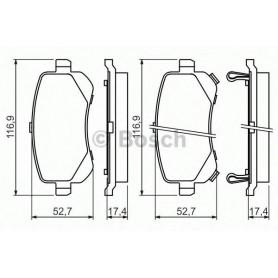 BOSCH brake pads kit code 0986494496