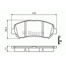 BOSCH brake pads kit code 0986494501