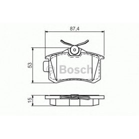 BOSCH Bremsbeläge Kit Code 0986494521
